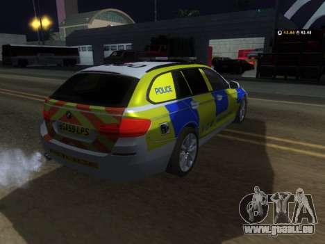 Jersey Police de la BMW 530d Touring pour GTA San Andreas vue de droite
