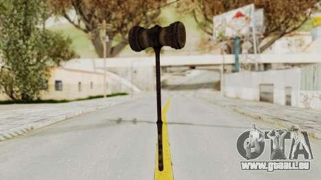 Skyrim Iron Warhammer pour GTA San Andreas