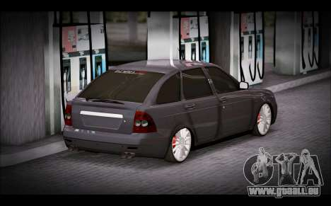 Lada Priora Bpan Version für GTA San Andreas linke Ansicht