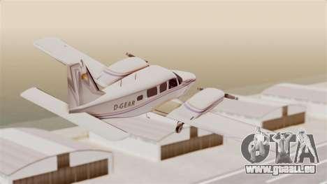 Piper Seneca II für GTA San Andreas rechten Ansicht