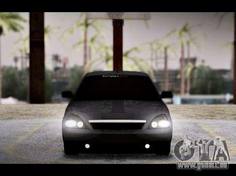 Lada Priora Bpan Version pour GTA San Andreas vue de dessous