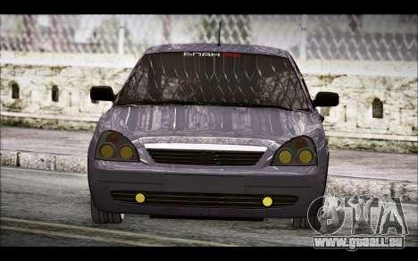 Lada Priora Bpan Version pour GTA San Andreas sur la vue arrière gauche