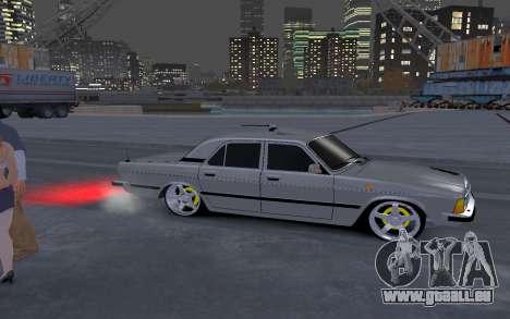 GAZ 3102 pour GTA 4 Vue arrière