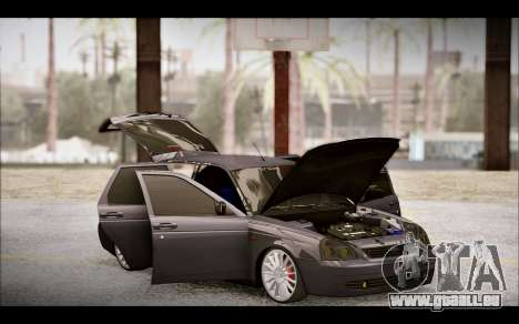 Lada Priora Bpan Version pour GTA San Andreas vue de dessus