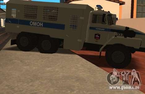 Ural 4320 riot-Polizei für GTA San Andreas linke Ansicht