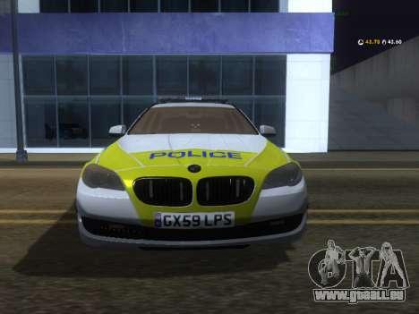 Jersey Police de la BMW 530d Touring pour GTA San Andreas laissé vue