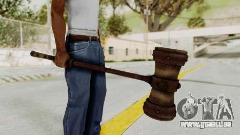 Skyrim Iron Warhammer pour GTA San Andreas deuxième écran