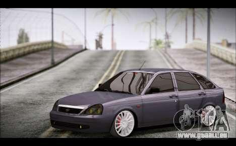 Lada Priora Bpan Version pour GTA San Andreas vue de droite