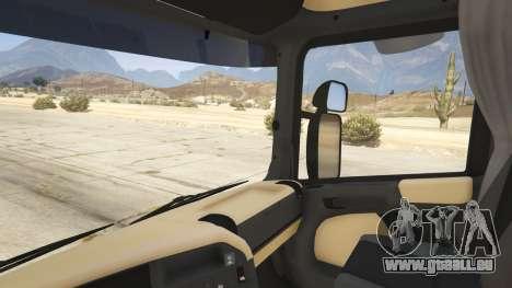 GTA 5 Scania R440 arrière droit vue de côté