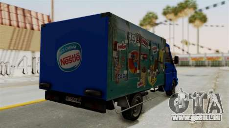 Zastava Rival Ice Cream Truck für GTA San Andreas linke Ansicht