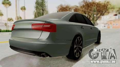 Audi A6 pour GTA San Andreas sur la vue arrière gauche