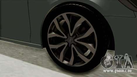 Audi A6 pour GTA San Andreas vue arrière