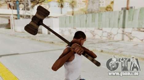 Skyrim Iron Warhammer pour GTA San Andreas troisième écran
