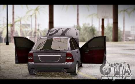 Lada Priora Bpan Version pour GTA San Andreas vue intérieure