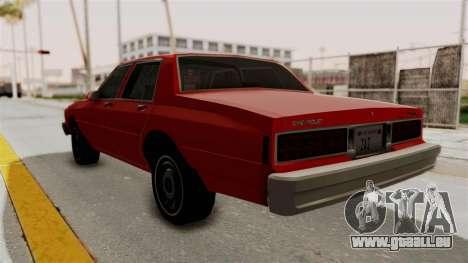 Chevrolet Caprice Classic 1986 v2.0 pour GTA San Andreas laissé vue