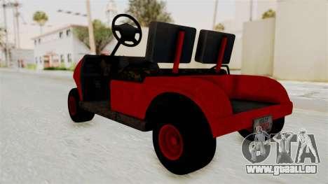 GTA 5 Gambler Caddy Golf Cart für GTA San Andreas rechten Ansicht