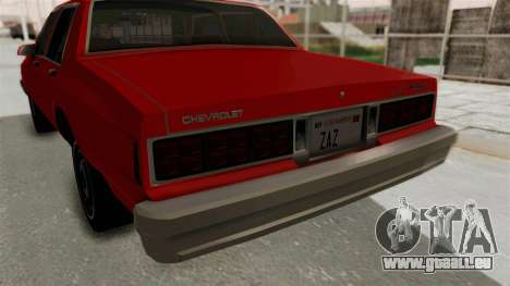 Chevrolet Caprice Classic 1986 v2.0 für GTA San Andreas obere Ansicht