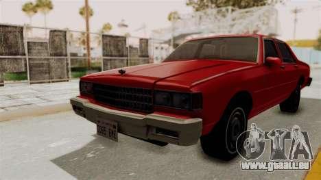 Chevrolet Caprice Classic 1986 v2.0 für GTA San Andreas zurück linke Ansicht