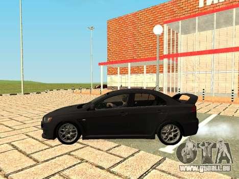Mitsubishi Lancer Evolution X GVR Tuning pour GTA San Andreas vue de droite