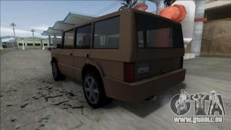 New Huntley pour GTA San Andreas vue de droite