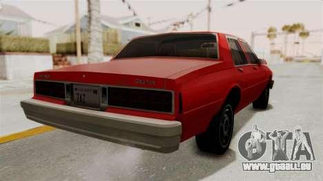 Chevrolet Caprice Classic 1986 v2.0 für GTA San Andreas rechten Ansicht