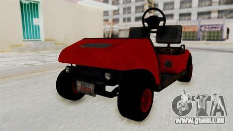 GTA 5 Gambler Caddy Golf Cart pour GTA San Andreas