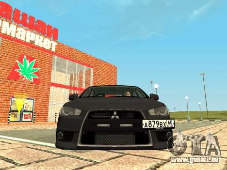 Mitsubishi Lancer Evolution X GVR Tuning für GTA San Andreas linke Ansicht