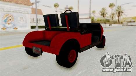 GTA 5 Gambler Caddy Golf Cart pour GTA San Andreas laissé vue