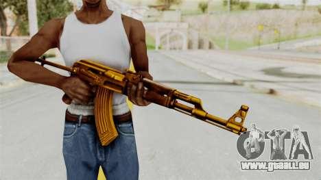 AK-47S Gold pour GTA San Andreas troisième écran