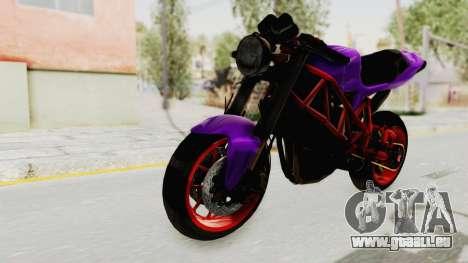 Ducati 1098 Nakedbike für GTA San Andreas rechten Ansicht