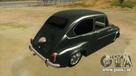 Fiat 600 für GTA San Andreas rechten Ansicht