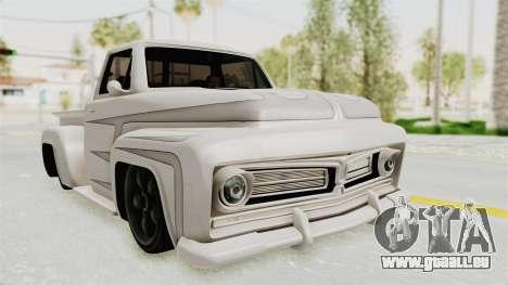 GTA 5 Slamvan Stock PJ1 für GTA San Andreas Rückansicht