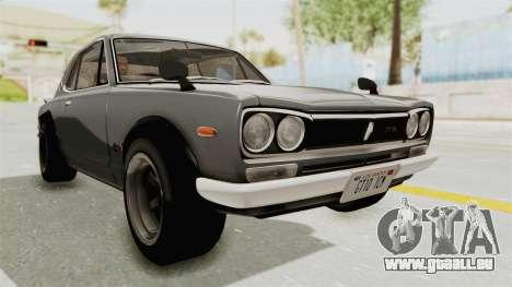 Nissan Skyline KPGC10 1971 pour GTA San Andreas vue de droite