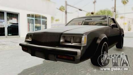 Buick Regal 1986 pour GTA San Andreas vue de droite