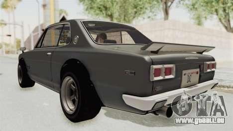 Nissan Skyline KPGC10 1971 pour GTA San Andreas laissé vue
