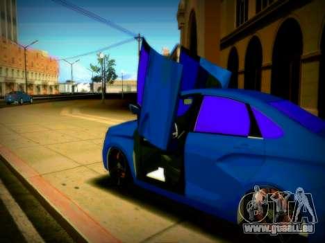Lada Vesta Lambo pour GTA San Andreas vue arrière