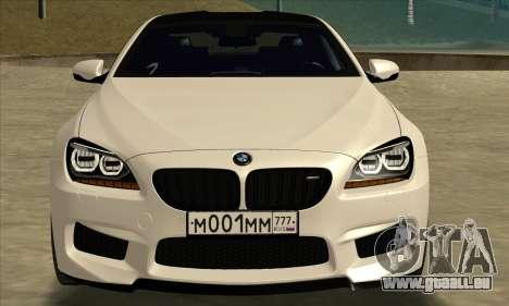 BMW M6 F13 Coupe pour GTA San Andreas sur la vue arrière gauche
