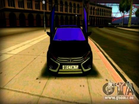 Lada Vesta Lambo pour GTA San Andreas laissé vue