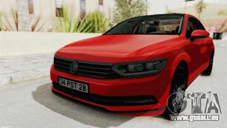 Volkswagen Passat B8 2016 Highline HQLM pour GTA San Andreas vue de droite