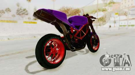 Ducati 1098 Nakedbike für GTA San Andreas linke Ansicht