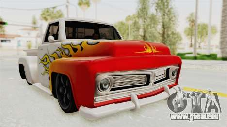 GTA 5 Slamvan Stock PJ1 pour GTA San Andreas vue de côté