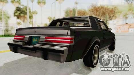 Buick Regal 1986 pour GTA San Andreas laissé vue