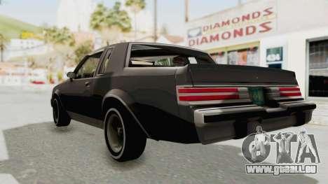 Buick Regal 1986 pour GTA San Andreas sur la vue arrière gauche