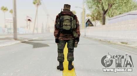Battery Online Russian Soldier 10 v1 pour GTA San Andreas troisième écran