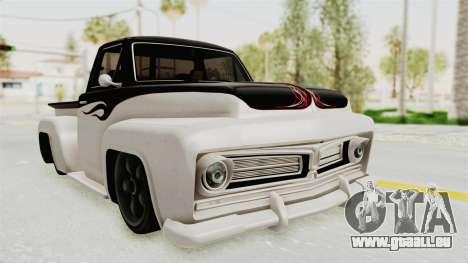 GTA 5 Slamvan Stock PJ1 pour GTA San Andreas sur la vue arrière gauche