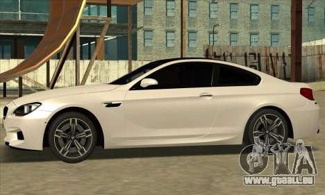 BMW M6 F13 Coupe pour GTA San Andreas vue de droite
