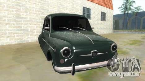 Fiat 600 für GTA San Andreas Rückansicht