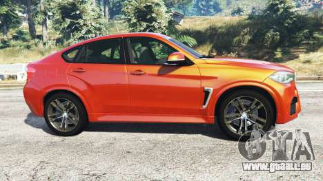 GTA 5 BMW X6 M (F16) v1.6 linke Seitenansicht