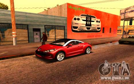 Ferrari Wall Graffiti pour GTA San Andreas deuxième écran
