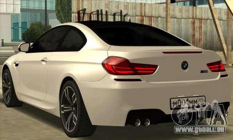 BMW M6 F13 Coupe pour GTA San Andreas laissé vue